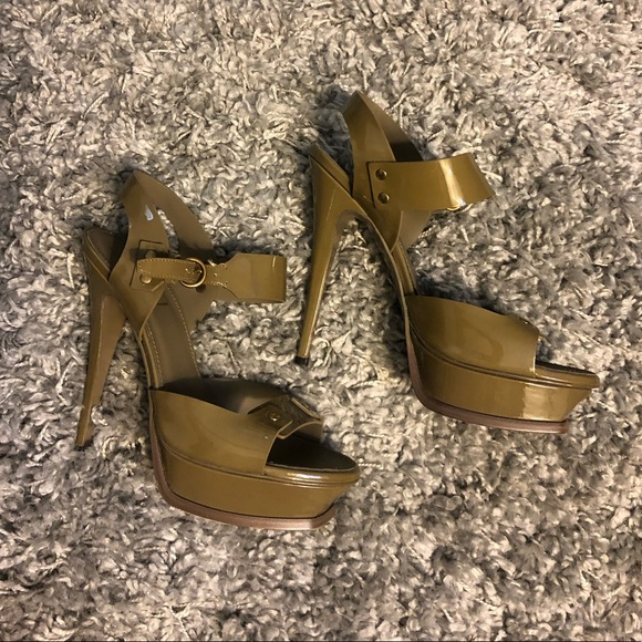 ea440c6e6c9 Yves Saint Laurent Shoes | Ysl Heels Olive Green Size 39 | Poshmark